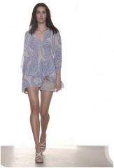 tunique mousseline de soie imprimé motifs cachemir bleu Charlie Joe.JPG