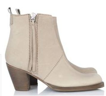 bottines ACNE dusty beige..JPG