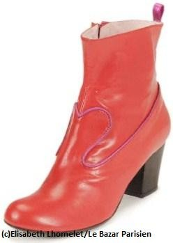 santiags girly by Annabel Winship cuir rouge lisse borde d un lisere rose irise LBP.JPG