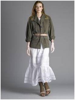 veste militaire brodée Les Fées du Bengale exclu portée par modéle PDT.JPG