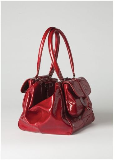 sac polochon cuir vernis rouge collection athé Vanessa Bruno.JPG