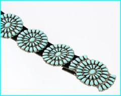 cienture conchas argnet et turquoise. Zuni.jpg