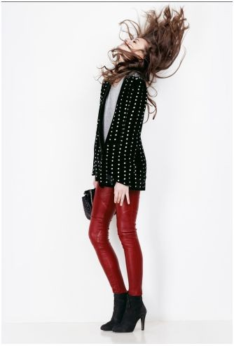 slim cuir rouge maje AH 2010.JPG